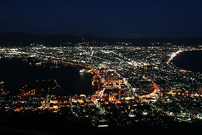 Day1-5 函館山にて世界三大(?)夜景を満喫