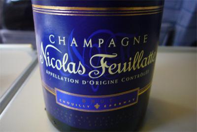 プレミアムクラスのシャンパン