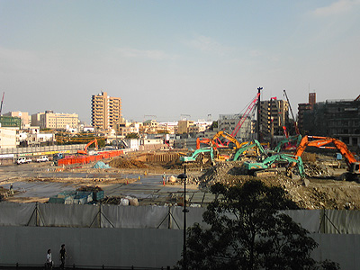 再開発中のソニー地区