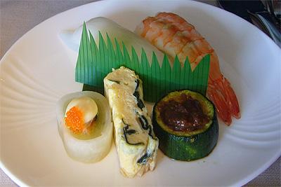 ニュージーランド航空の前菜