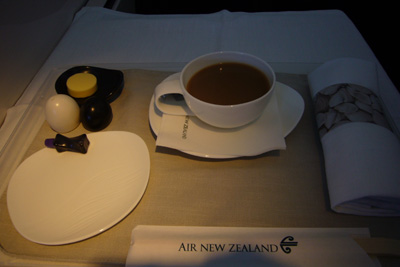 ニュージーランド航空の朝食