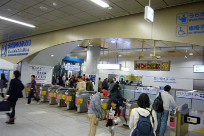 改良工事中の日暮里駅