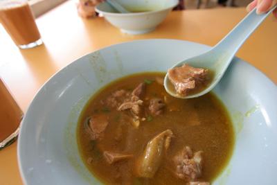 マトンスープのラム肉