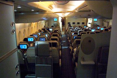 Day7-5 初A380 アッパーデッキ・エコノミークラス