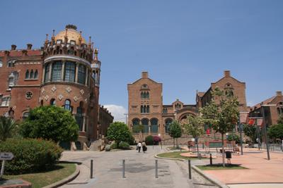 サン・パウ病院の中庭